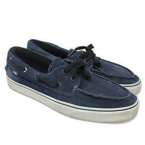 VANS Navy Blue Chauffeur Boat Deck Surf Shoes